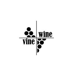 wine and vine sing or symbol vector image vector image