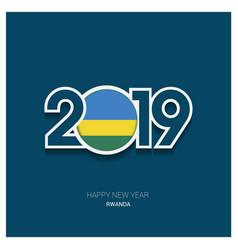 2019 rwanda typography happy new year background vector