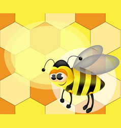 a cute cartoon bee vector image