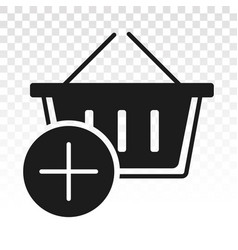 Add item shopping items - flat icon for apps vector