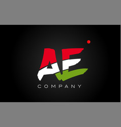 Ae a e alphabet letter logo combination icon vector