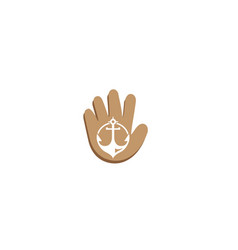 anchor for boat and yacht for logo design in a vector image