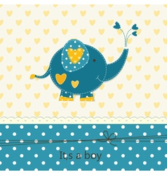 Baby shower with cute elephant 2 vector