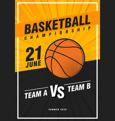 basketball tournament modern sports posters vector image