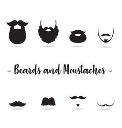 Beard and moustaches vector
