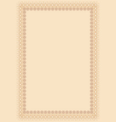beige certificate background with many vignettes vector image