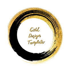 Black and gold circle design templates for vector