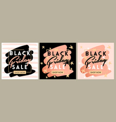 black friday sale inscription invitation banner vector image