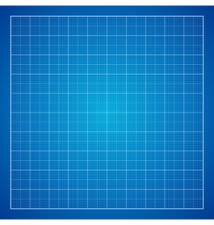 Blue Graph grid paper background vector image