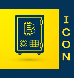 Blue prostake icon isolated on yellow vector