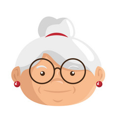Cartoon grandmother icon vector