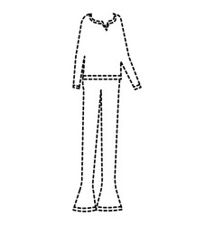 casual clothing from the sixties vector image