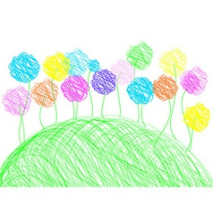 Childish drawing - background template vector image