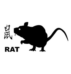 Chinese year of the rat vector
