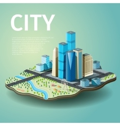 City with skyscrapers and vector