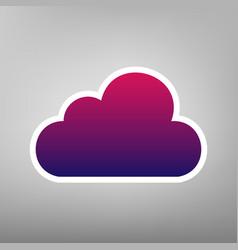 cloud sign purple gradient vector image