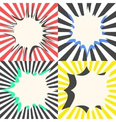 Comic book bubble effects set vector image