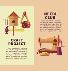 Creative art and handicraft workshop flat vector