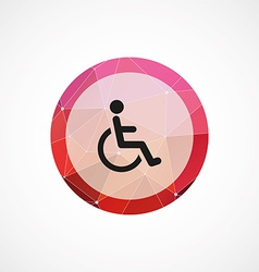 cripple circle pink triangle background icon vector image