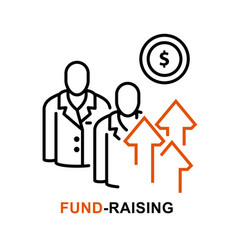 Crowdfunding icon fundraising and venture fund vector