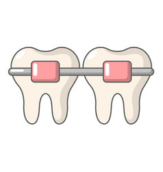 Dental brace icon cartoon style vector