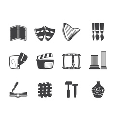 Different kind of Arts Icons vector