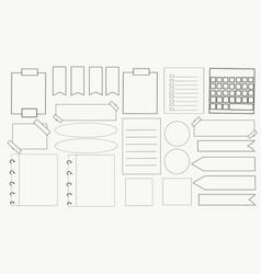 Doodle journal vector