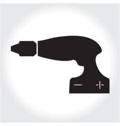 Drill tool icon black silhouette Element logo vector image