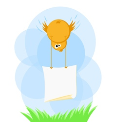 Easter chick note vector