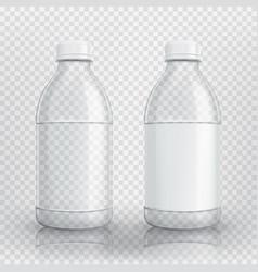 Empty realistic plastic bottle vector