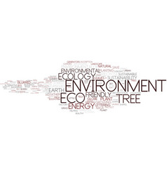 environment word cloud concept vector image