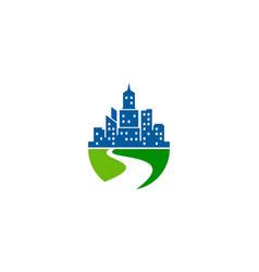 Field town logo icon design vector