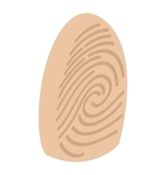 Fingerprint isometric 3d icon vector image