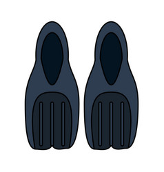 Flippers diving icon image vector