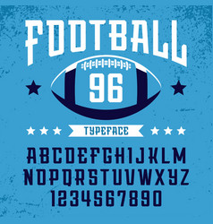 football font alphabet with latin letters vector image