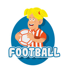 football girl vector image