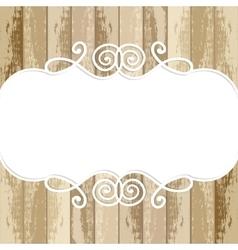 Frame for design on wooden background vector