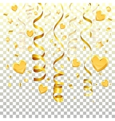Gold Streamer on transparent background vector image