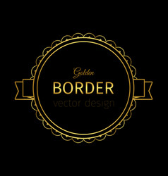 golden border on the label vector image