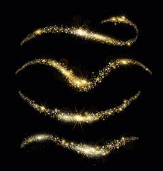 golden sparkles sparkling vector image
