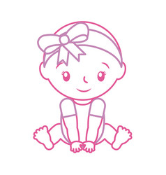 happy and smiling baby girl adorable vector image