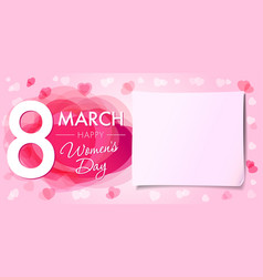 Happy womens day 8 march banner vector