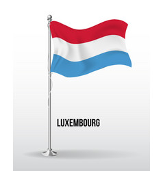 High detailed flag luxembourg vector