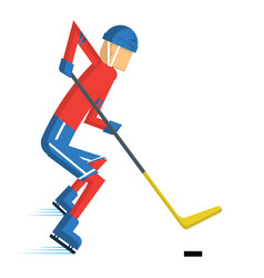 Hockey player cartoon vector