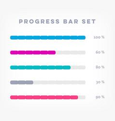 Infographic progress loading bars vector