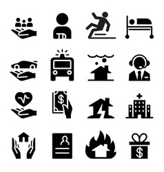 Insurance business icons vector
