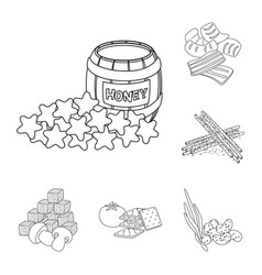 Isolated object of taste and crunchy icon vector