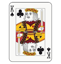 King of clubs vector