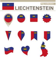 Liechtenstein flag collection vector
