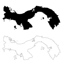 map panama isolated black on vector image